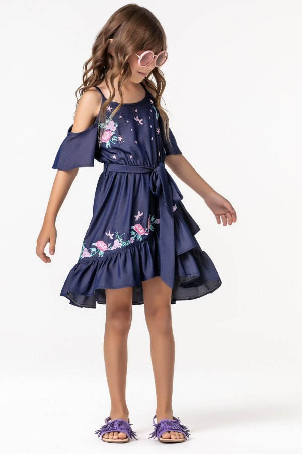 Vestido bordado Jeans Seda Magic Fairies Ref: 31182
