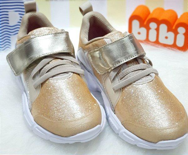 Tênis Bibi Feminino Ever Dourado Ref 1100053