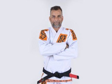 Kimono Jiu Jitsu Oss Masculino Branco/Laranja Clássico