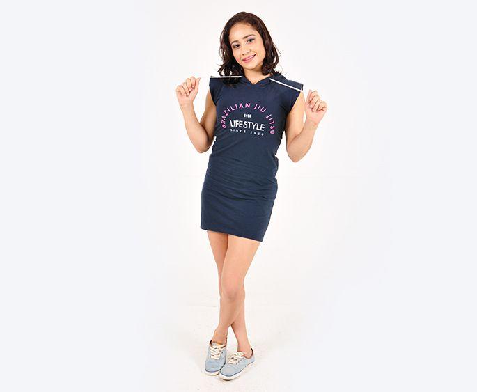Vestido OSSK Azul Marinho