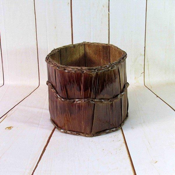 Cesto Newborn - Folha Palmeira Carnaúba - 25x25 cm