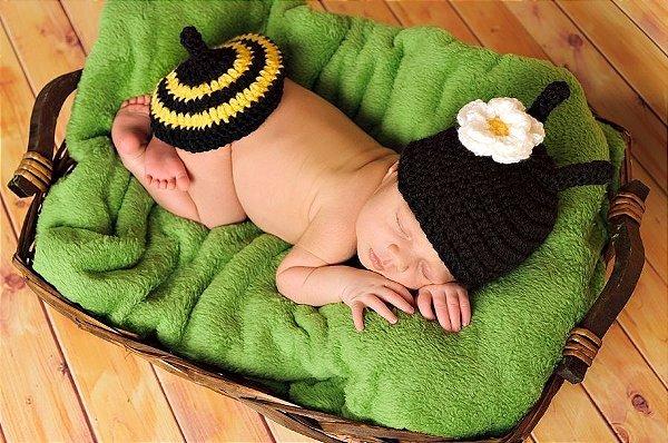 Newborn Abelhinha - em Crochê