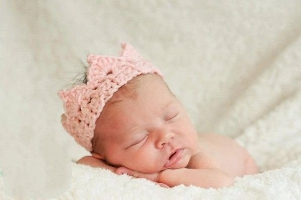 Coroa para Bebe Newborn - Mini Coroa