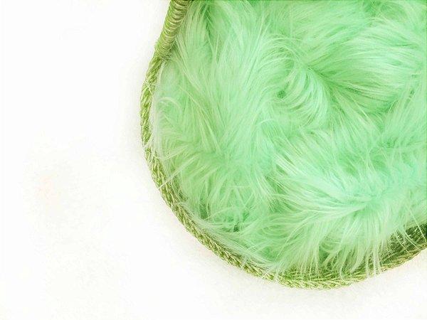Manta para Newborn Pêlo Longo - Cor Verde Claro