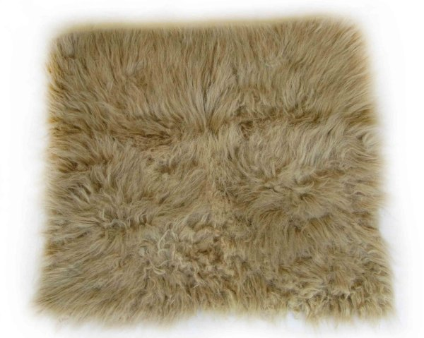 Manta para Newborn Pêlo Longo - Cor Marrom Claro