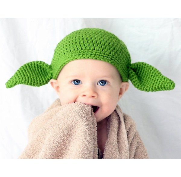 Touca Yoda Star Wars Em Crochê