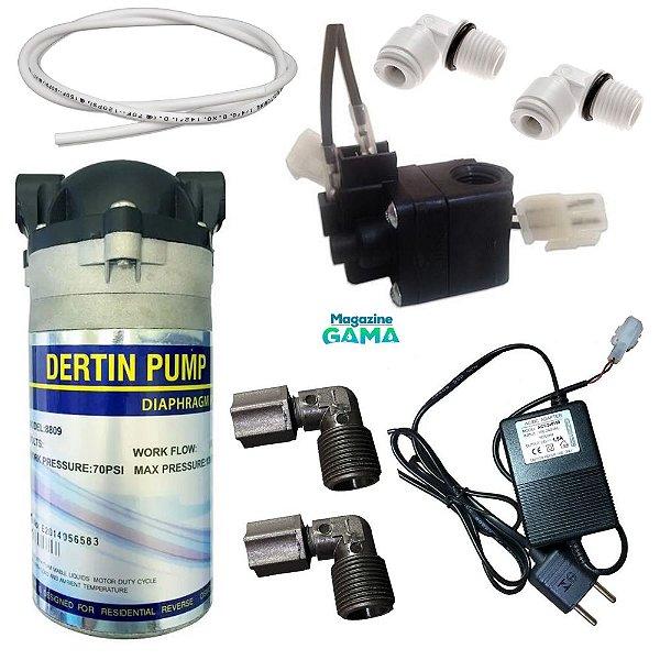 Kit Pressurizador 50/75 GPD Para Bebedouro e Osmose Reversa GAMA 2