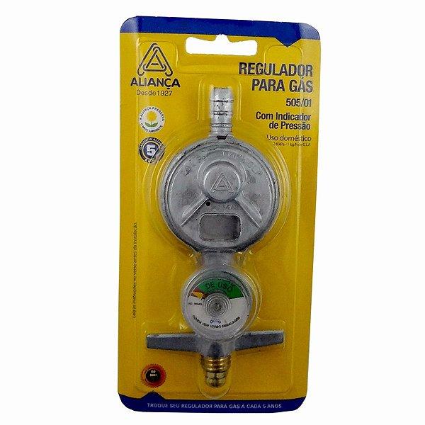 Regulador de Gás GLP Com Manômetro Sem Mangueira - 505/01