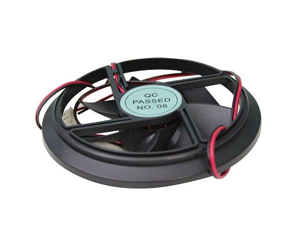 Micro Ventilador Redondo Atlantis Ibbl P/ Reservatório Preto