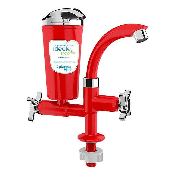 Purificador de Água Ideale Eco Bancada Vermelho Planeta Água