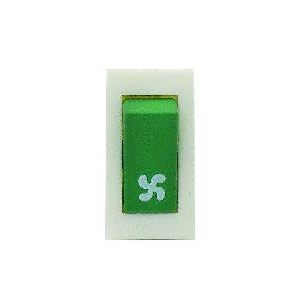 Interruptor Verde ventilador Refrigeração Refresqueira IBBL BBS 1 e 2