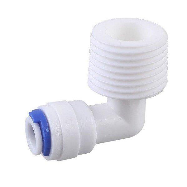 Conector Cotovelo 1/2 P/ Mangueira 1/4  Purificador/bebedouro/aquário/osmose reversa