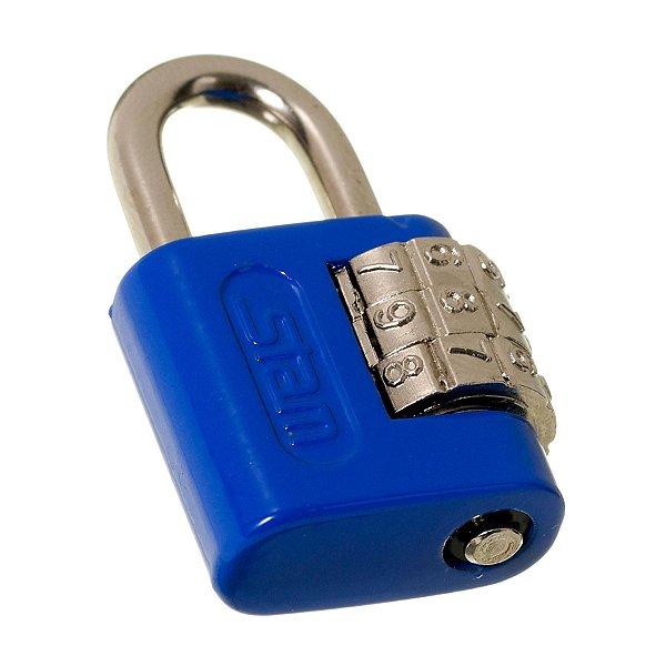 Cadeado Stam com Segredo Zamac Simples 25mm Azul Escuro