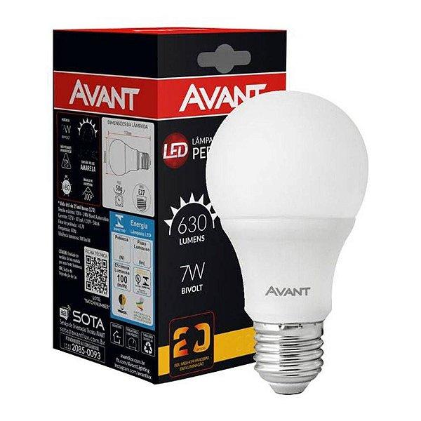 Lampada Led 7w Bulbo Avant Inmetro Bivolt Branco Frio