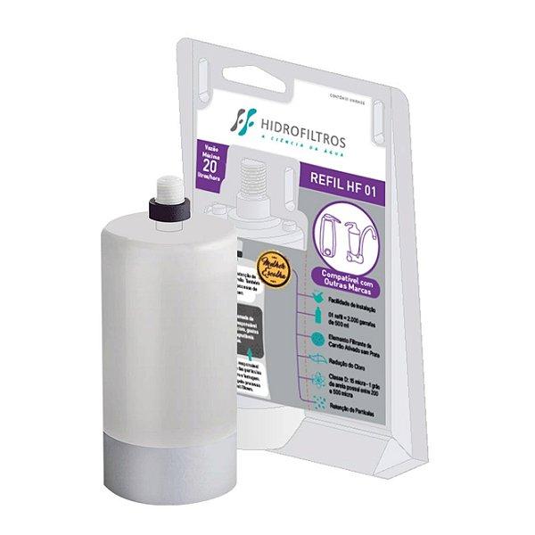 Refil Filtro Hf01 Acqua Bella e Vitale Compatível Hidrofiltros