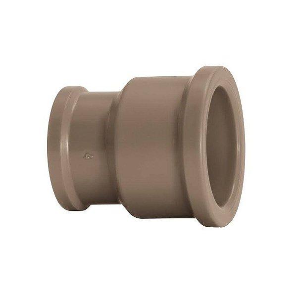 Luva de Redução Soldável PVC Marrom 50 mm x 25 mm - Krona