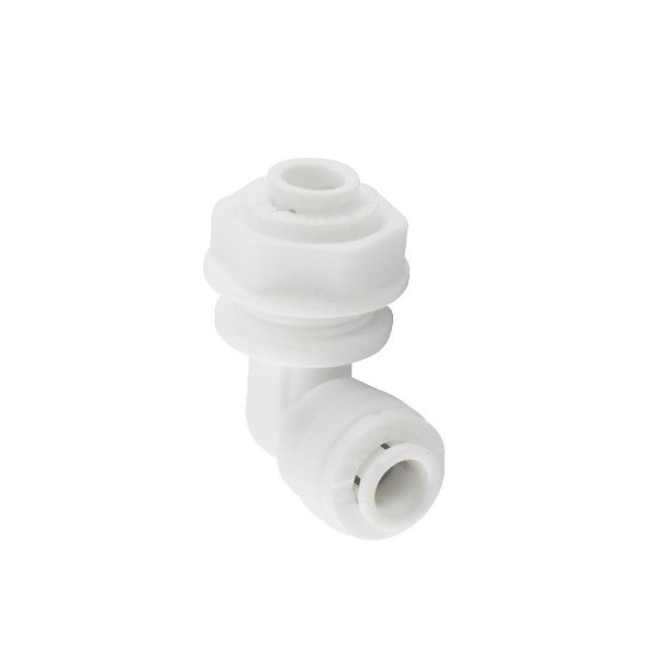 Conector Cotovelo Niple Passa furos 1/4  x 1/4  Bulkhead