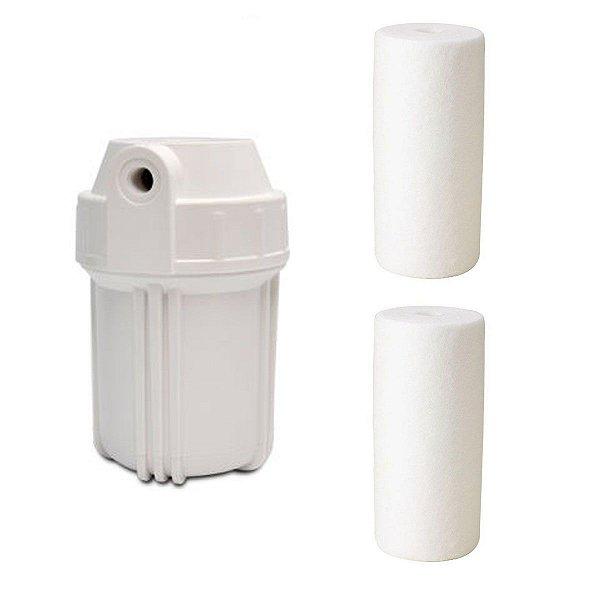 Kit 1 Carcaça Branca 5 Pol E 2 Refil Polipropileno 5 Pol