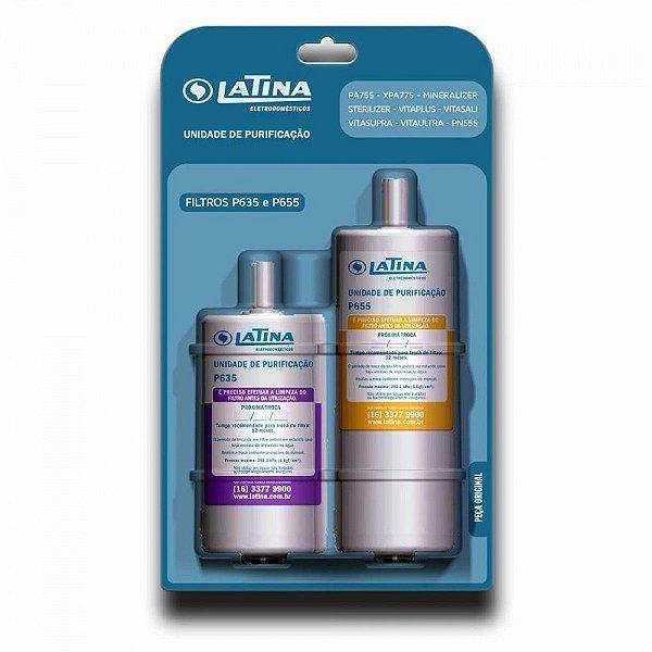Refil / Filtro P655 e P635 Para Purificador de Água LATINA (Original)