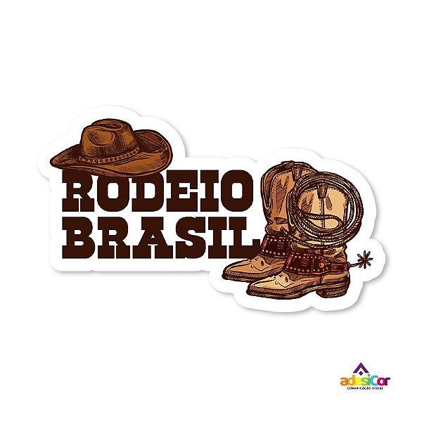 Adesivo Vinil Rodeio Brasil-14x8cm