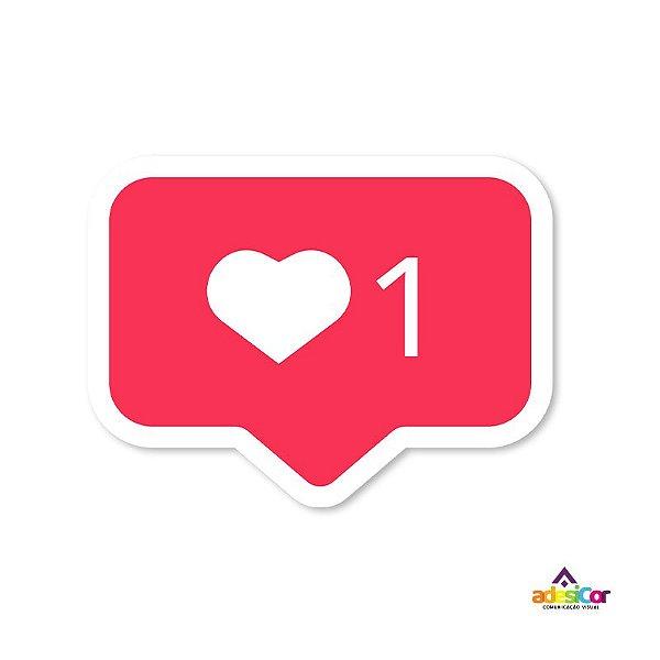 Adesivo Vinil Like Instagram - 12x9cm