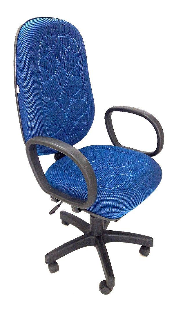 Cadeira Giratória Presidente Tecido Costura