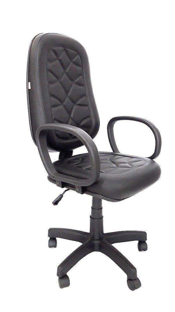 Cadeira Giratória Presidente em Corino com Costura