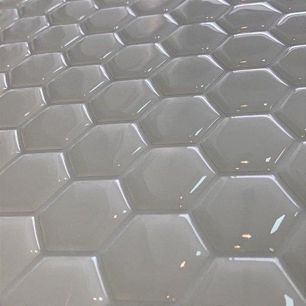 Pastilha Hexagone Branca Adesiva PHB01