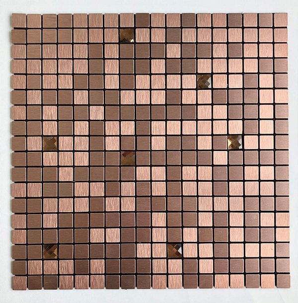 EPLAL1009 - Pastilha Adesiva Quadrado Brilho Rose - Peça