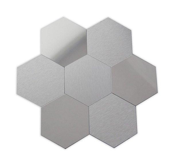 EPLAL1017 - Pastilha Adesiva Hexagone GG Inox - Peça