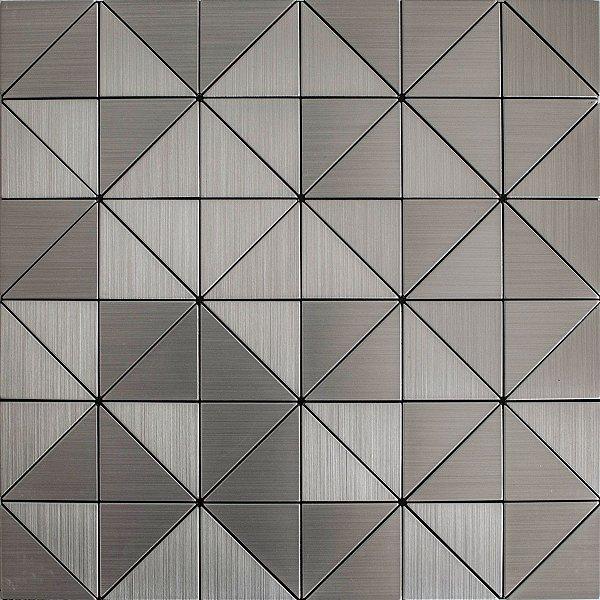 EPLM717 - Pastilha Adesiva Triangulo Inox Prata - Peça
