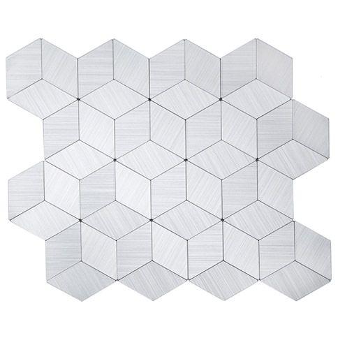 EPLAL702 - Pastilha Adesiva Hexagone G Inox - Peça