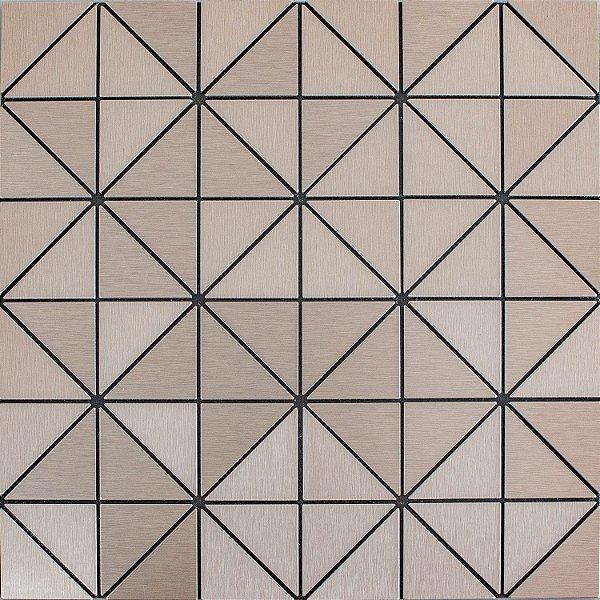 EPLM788 - Pastilha Adesiva Triangulo Inox Rose - Peça