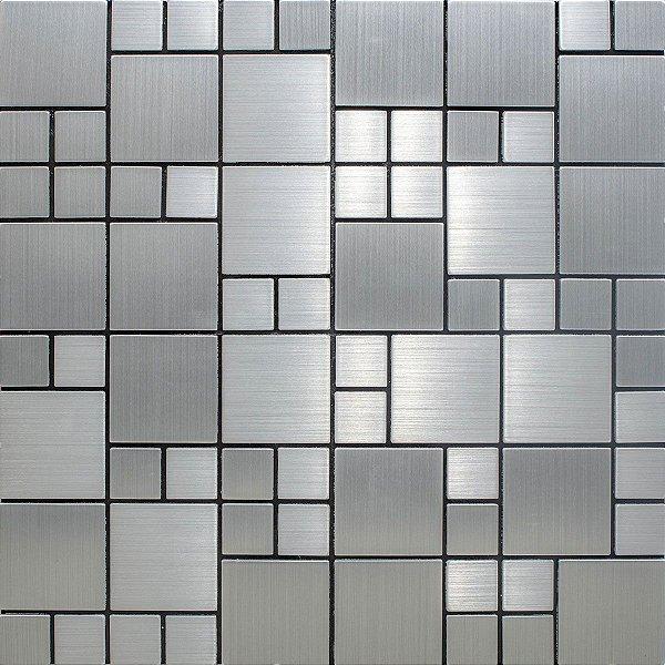 EPL104 - Pastilha Adesiva Inox Tetris Prata - Peça