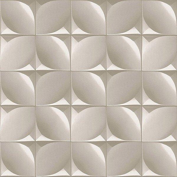 Papel de Parede 3D Cinza Branco Stone