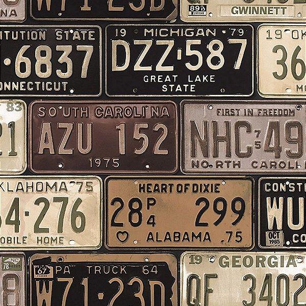 Papel de Parede Placas de Carro