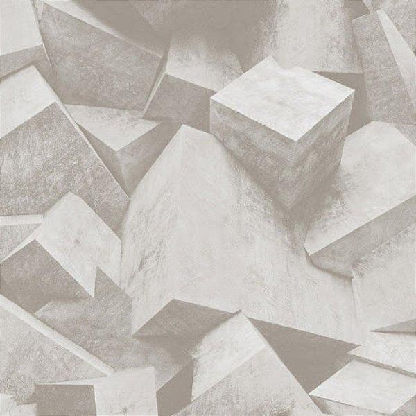 Papel de Parede 3D Cimento Stone