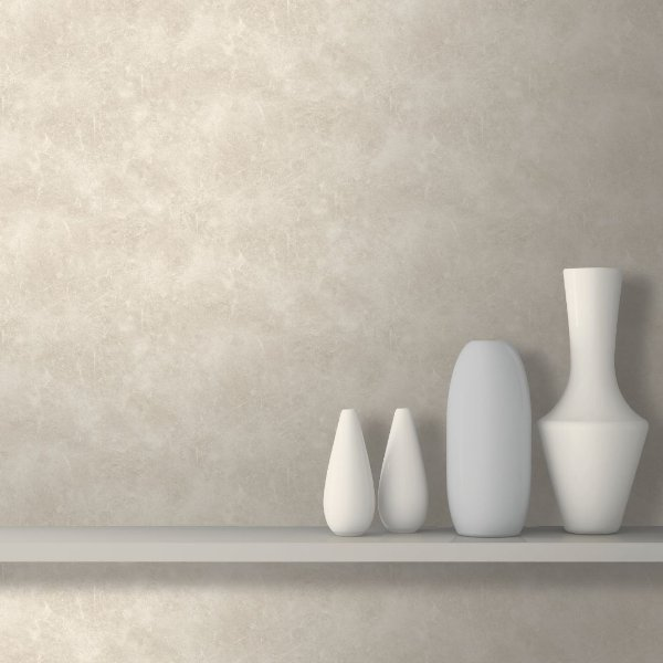 Papel de Parede Cimento Queimado Bege - Roll in Stones