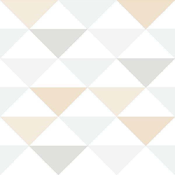Papel de Parede Triangulo Bege e Cinza - Brincar