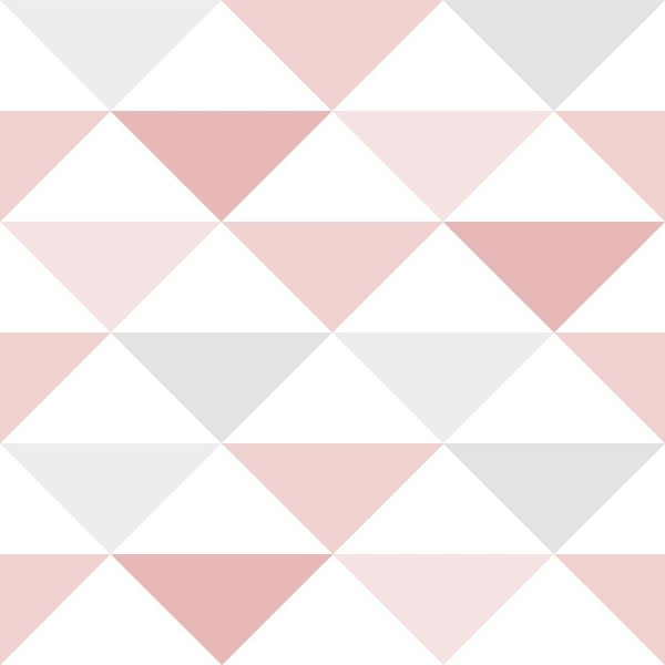 Papel de Parede Triangulo  Rosa - Brincar