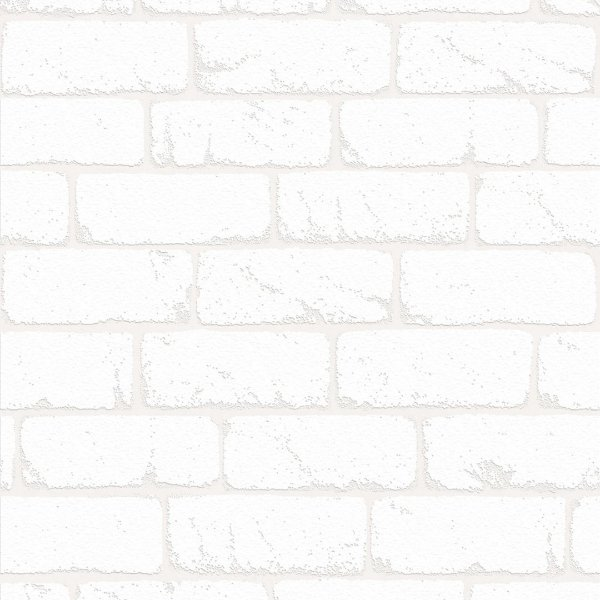 Papel de Parede Tijolinho Branco Atemporal