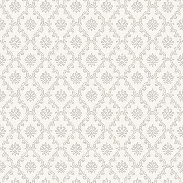 Papel de Parede Adamascado Mini Cinza suave Element