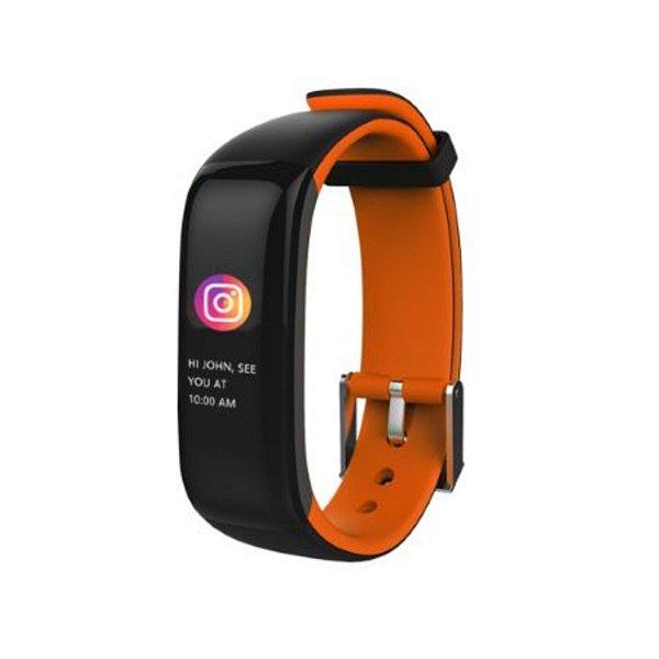 Relógio Inteligente X10 Plus - Preto e Laranja