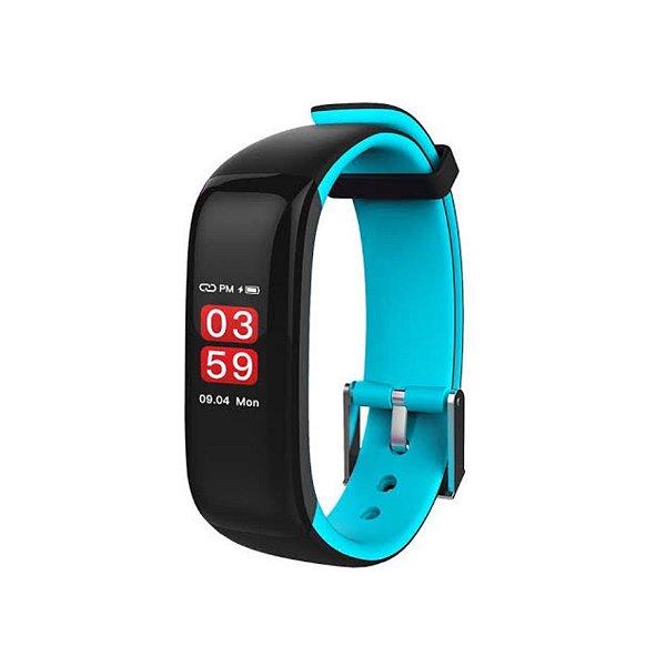 Relógio Inteligente X10 Plus - Preto e Azul