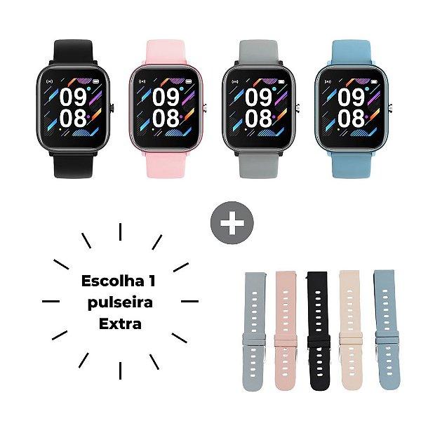 Smartwatch Morefit Pro P8 - Combo Promocional com Pulseira Extra