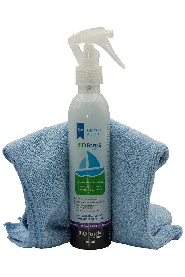 Produto de Limpeza Náutico BioForcis 200ml e Flanela Microfibra