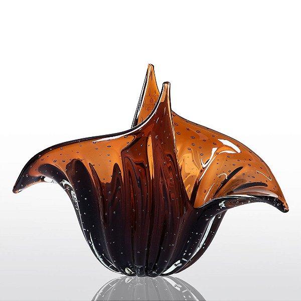 Vaso de Decoração em Murano - Wings - Marrom - M