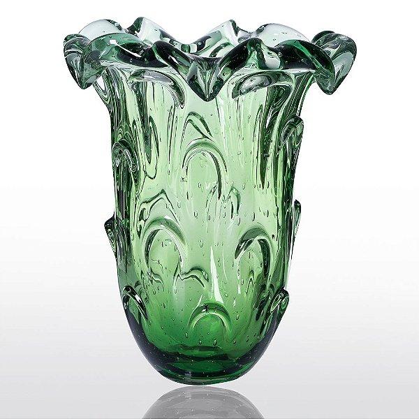 Vaso de Decoração em Murano - Verde Esmeralda - Torino