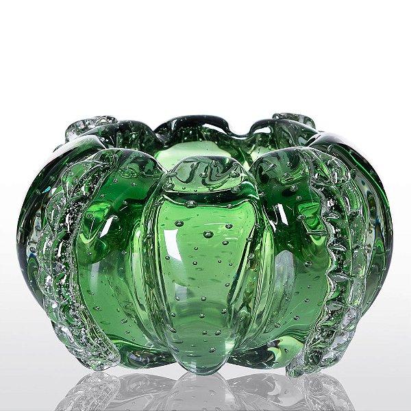 Cachepot de Decoração em Murano - Verde Esmeralda - Squash