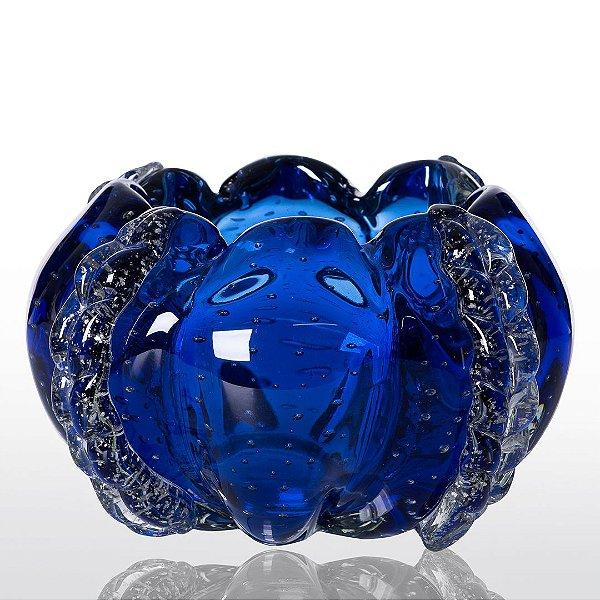 Cachepot de Decoração em Murano - Azul Safira - Squash